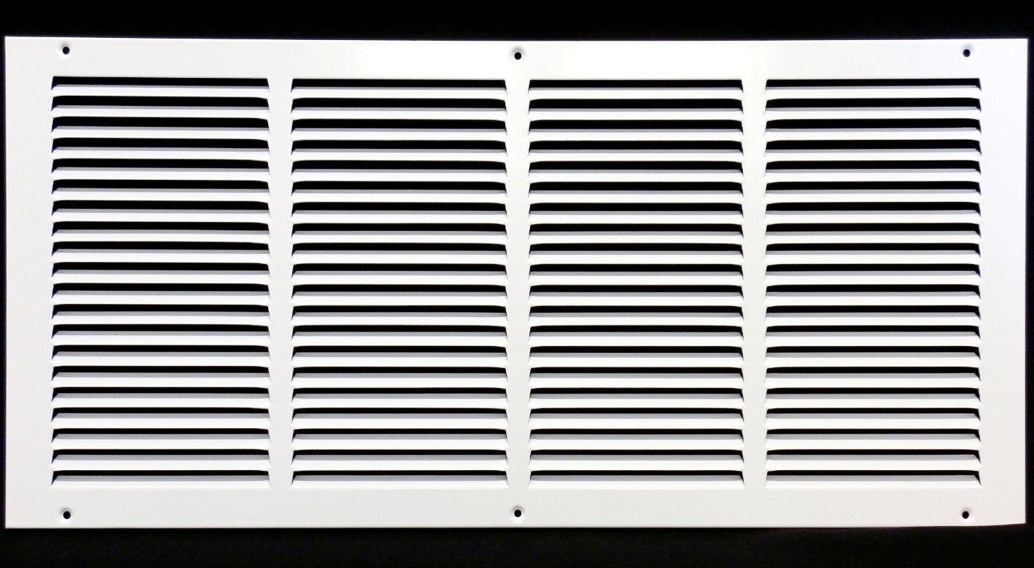 "24""w X 12""h Steel Return Air Grilles - Sidewall and Ceiling - HVAC Duct Cover - White [Outer Dimensions: 25.75""w X 13.75""h]"