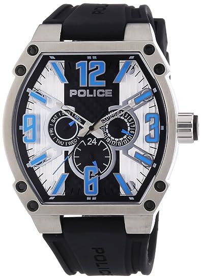 POLICE COBRA P13845JS-02A - Reloj analógico de cuarzo para hombre, correa de goma