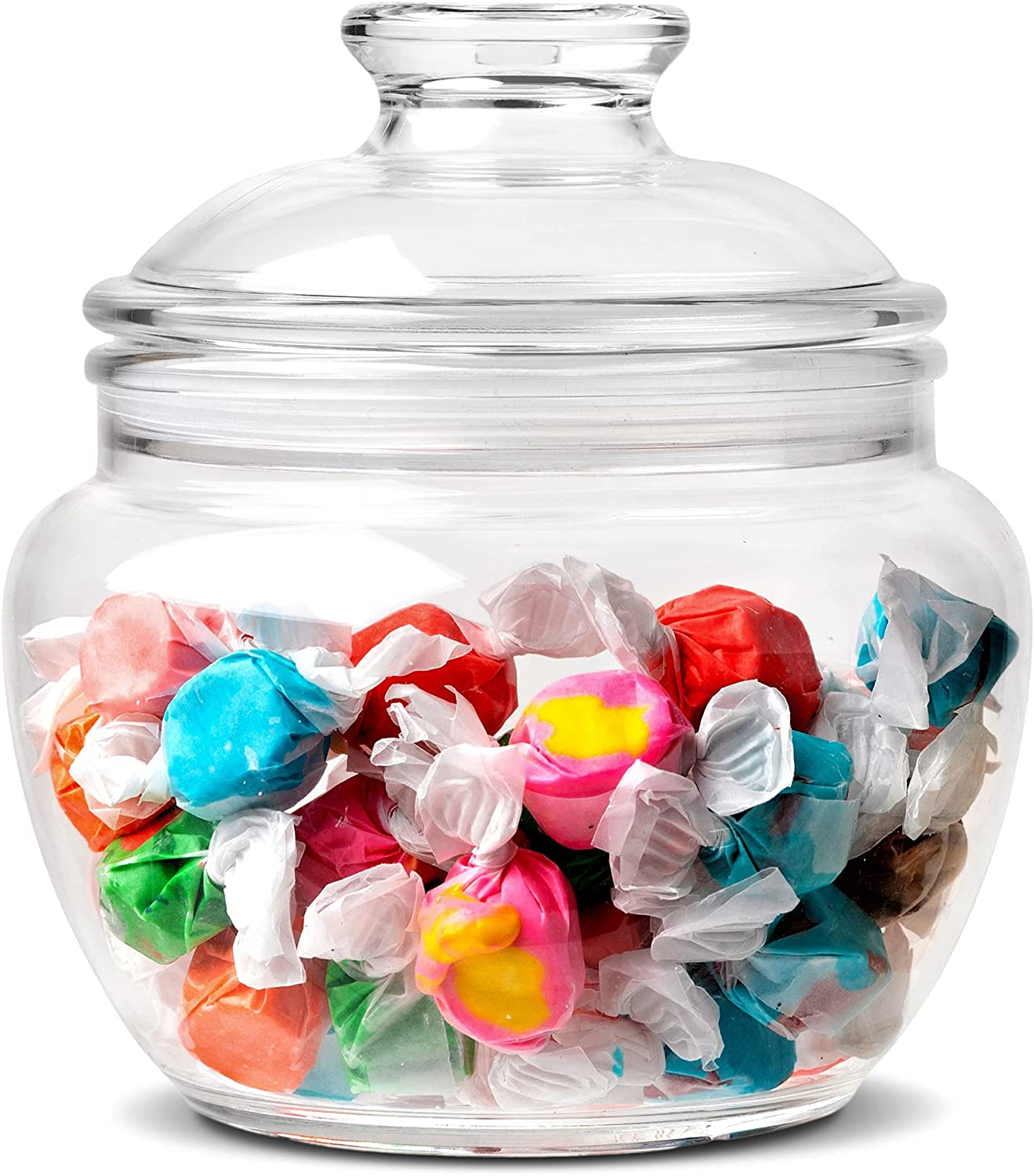 Modern Innovations 40 oz Candy & Cookie Jar with Lid, Premium Acrylic Clear Apothecary Jar, Wedding & Home Décor Centerpiece Cookie Candy Buffet Decorative Kitchen