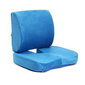 Cojín de asiento Eskind en forma de U con espuma viscoelástica para respaldo lumbar que proporciona almohadas ...