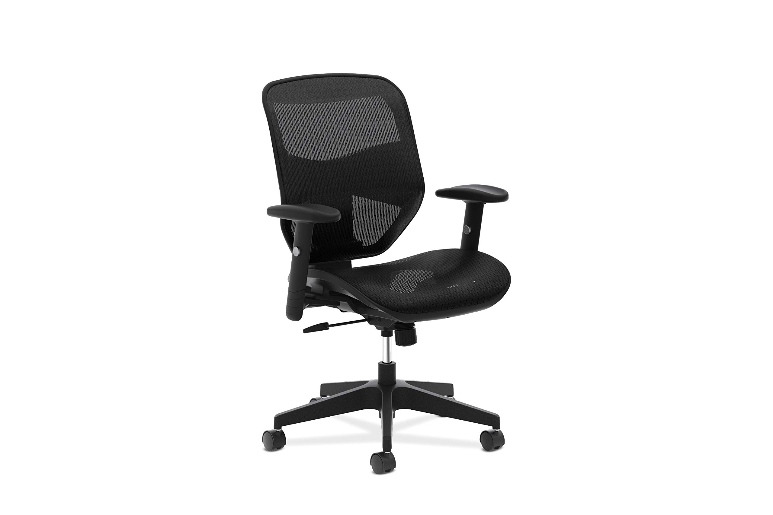 HON Prominent High Back Task Chair - Mesh Back and Seat Office Chair for Computer Desk, Black (HVL534) by HON
