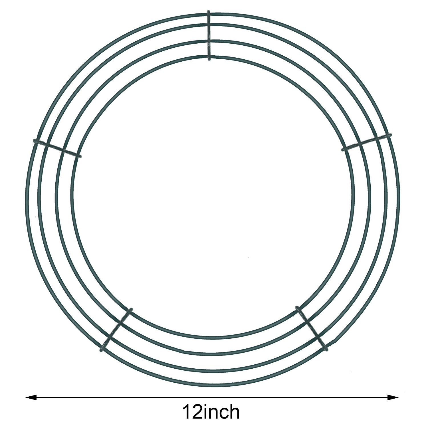 Amazon.com: Sumind 2 Pack Wire Wreath Frame Wire Wreath Making Rings ...