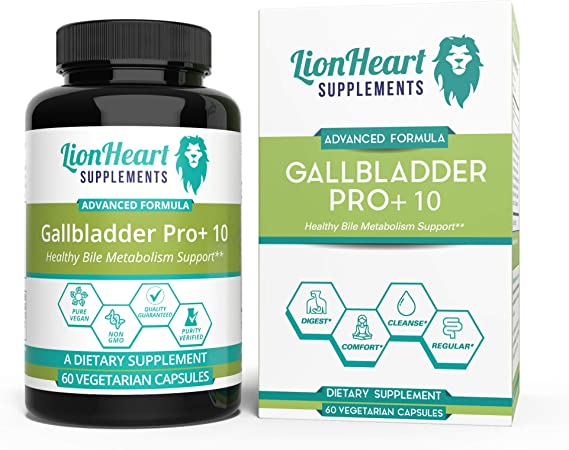 Gallbladder Support Formula Supplements - Natural Cleanse & Detox - Supports Non Gallbladder - Helps Digestion - Includes Artichoke, Milk Thistle, Organic Beet & Turmeric Veg 60 Caps (60)