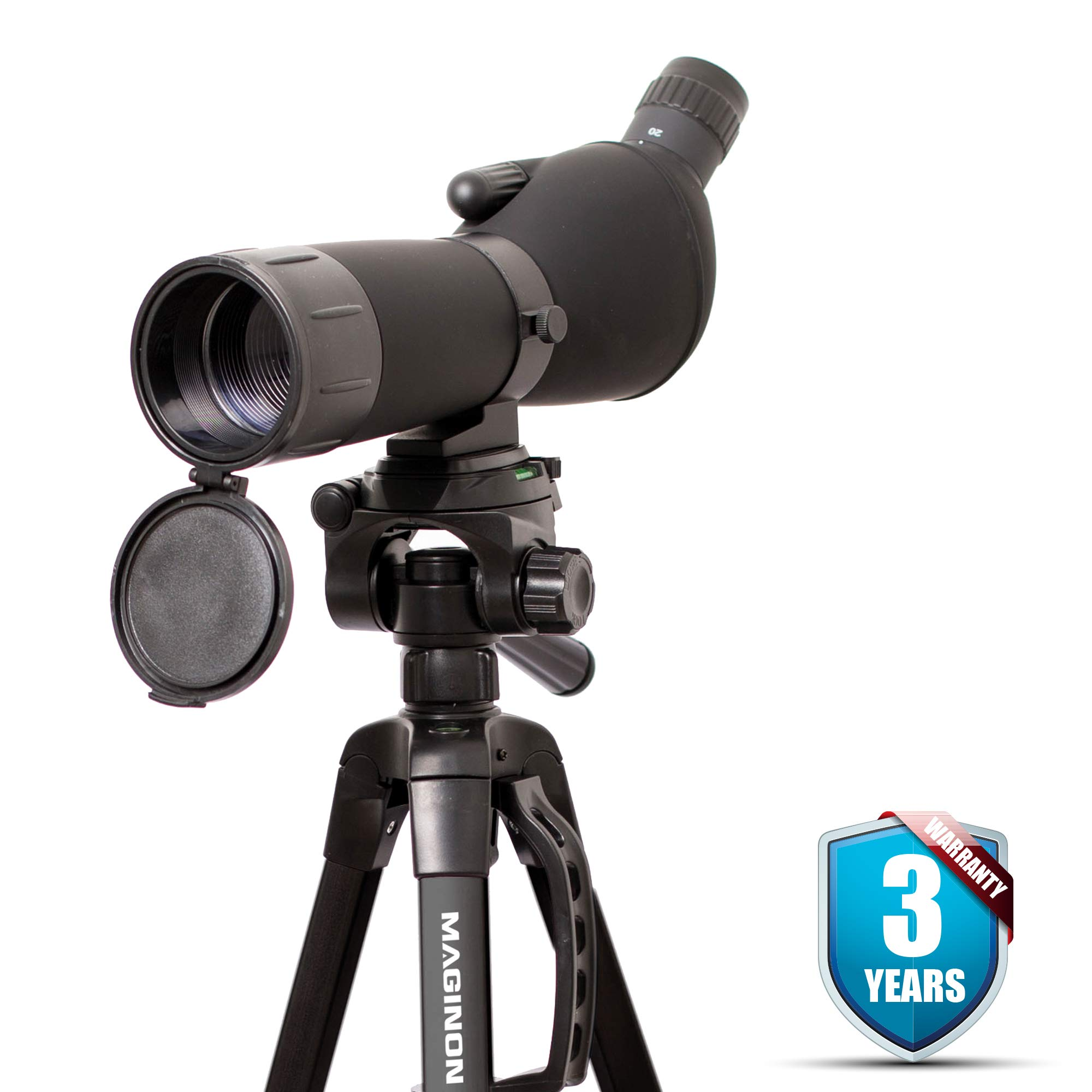 Maginon Hi Definition Spotting Scope with Tripod 20-60x60 Zoom for Bird Watching Target Shooting or Hunting by Maginon