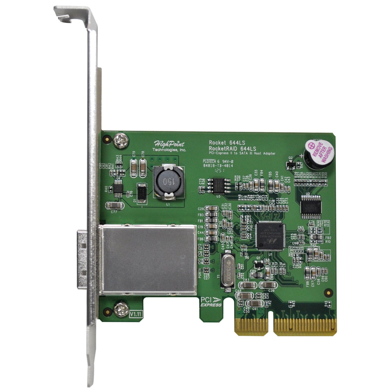 HighPoint RocketRAID 644LS 4-Channel SATA 6Gb/s PCI-Express 2.0 x4 RAID HBA (Mini-SAS Connector) by High Point