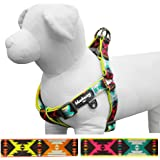Blueberry Pet Soft & Comfortable Vintage Tribal Pattern Neoprene Padded or Nautical Flags Dog Harness, Matching Collar & Leash Available Separately