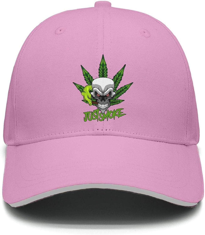 TylerLiu Baseball Cap Weed Cannabis Marijuana Smoking Skull Snapbacks Truker Hats Unisex Adjustable Fashion Cap
