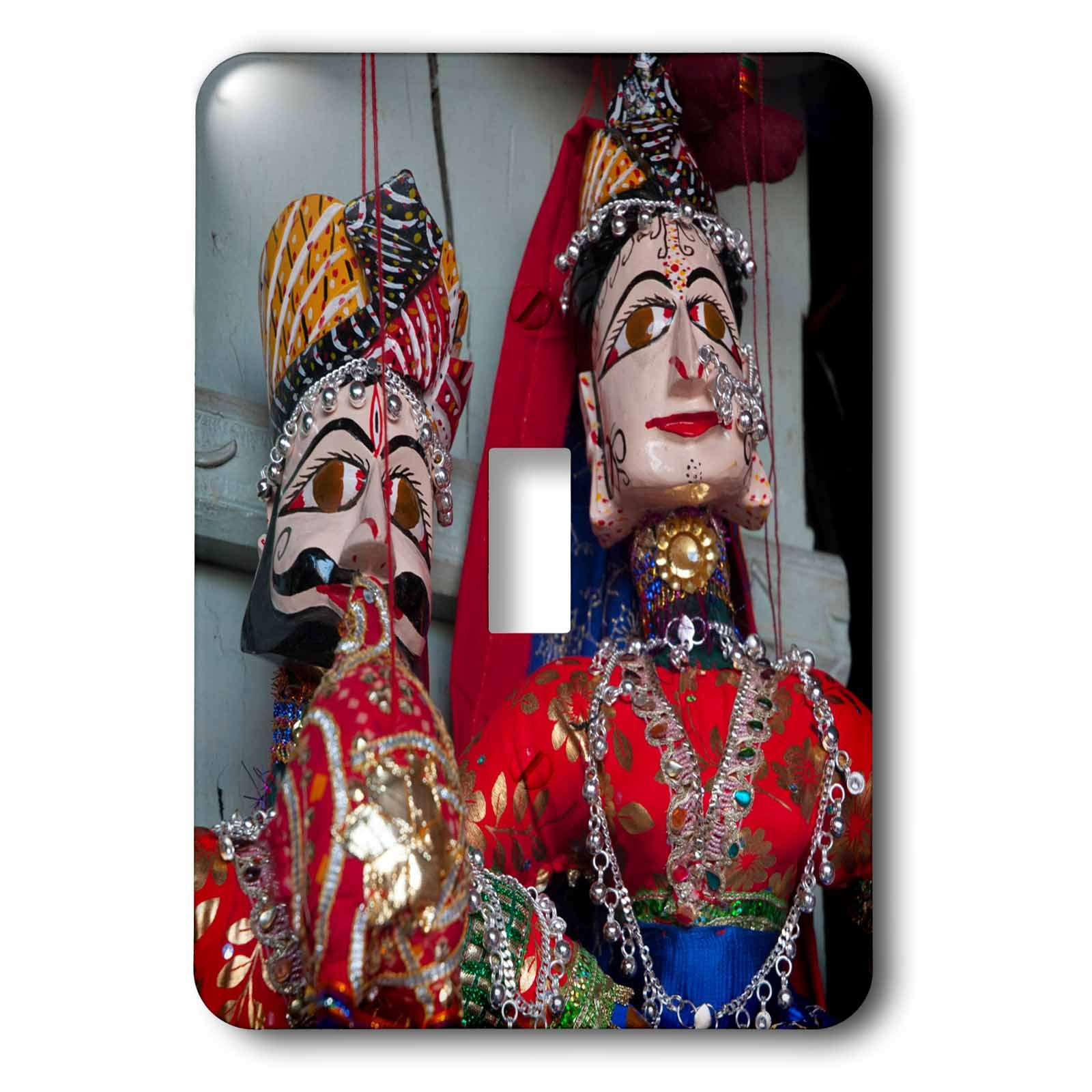 3dRose lsp_188194_1 Kathputli, Traditional Rajasthani Puppets, Pushkar, Rajasthan, India. - Single Toggle Switch