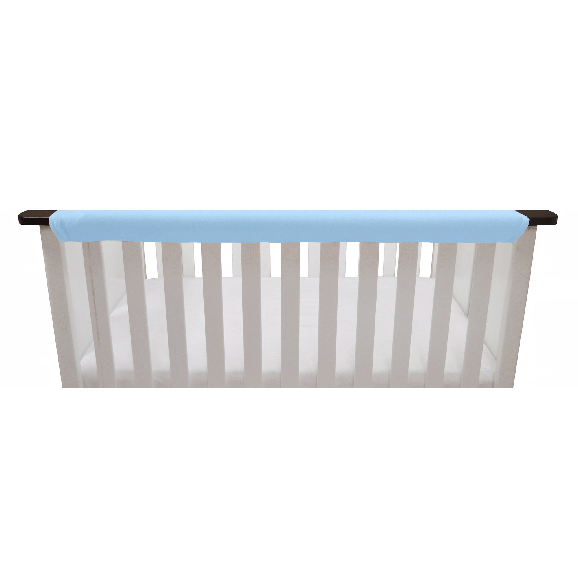 Go Mama Go Organic Teething Guard Protects Baby and Crib, Blue/White, 52''x 12'' by Go Mama Go