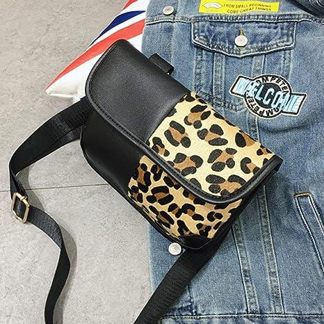c14607edf679 Amazon.com : Moonite Women Fashion Leopard Crossbody Phone Shoulder ...