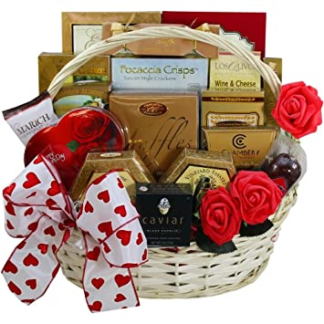 Amazon Com My Gourmet Valentine Gift Basket With Caviar Grocery