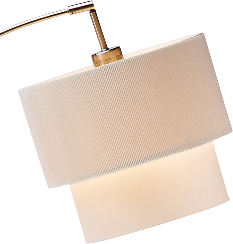 Adesso 3029-01 Gala Arc Lamp with Black Shade