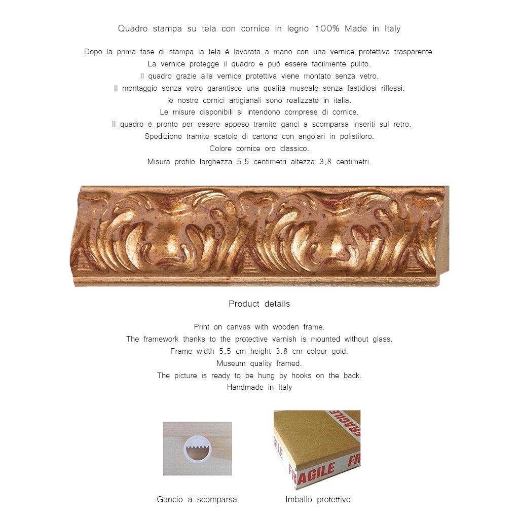 LuxHomeDecor Rahmen Druck auf Leinwand mit Holzrahmen Pierre Pierre Pierre Adrien chabal-dussergey rot und weiß blühender Oleander 133x103 CM Cornice Gold Classico B07D5HK88P | New Products  804d0d