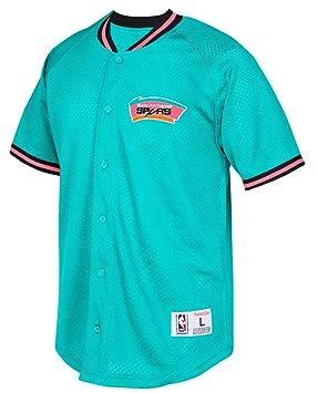 San Antonio Spurs Mitchell   Ness NBA Seasoned Pro Men s Button Up Jersey  Shirt  Amazon.co.uk  Sports   Outdoors 36471307c