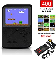 SUNHM Handheld Game Console for Kids/Adults,Retro Mini Game Player with 400 Classical FC Games,Support for Connecting TV and