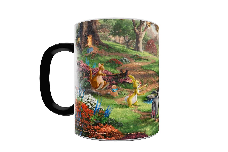 Morphing Mugs Thomas Kinkade Disneys Winnie the Pooh Painting Heat Reveal Ceramic Coffee Mug 11 Ounces