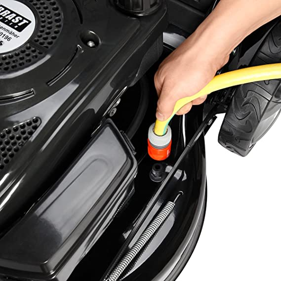 BRAST Cortacésped de gasolina 4 en 1 20174 Power 3,7 kW (5 CV ...