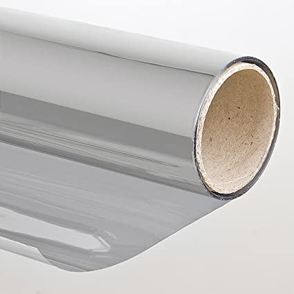Pellicola solare adesiva finestra Effetto specchio 75x300 cm Argento  oscurante  Amazon.it  Fai da te 4453508dd789