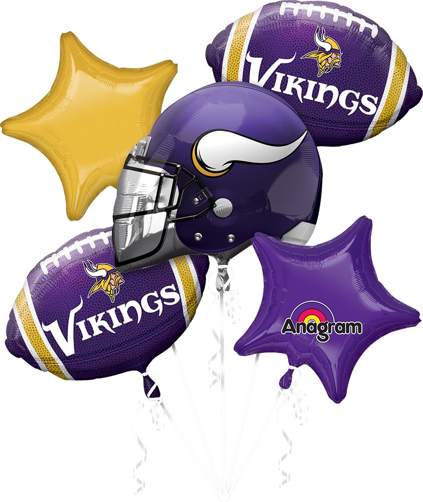 Anagram Bouquet Vikings Foil Balloons, Multicolor