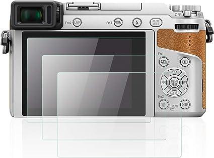 OOTSR 4 Piezas Resistente a rayones Protector de Pantalla Compatible con Panasonic DMC-GX85 GX80 G80 G80 G7 FZ2000 FZ300 FZ2500 LX10 LX15 Protector de Vidrio Templado Alta definici/ón