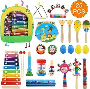 Ballery Juguetes de Instrumentos Musicales, 25pcs Instrumentos ...