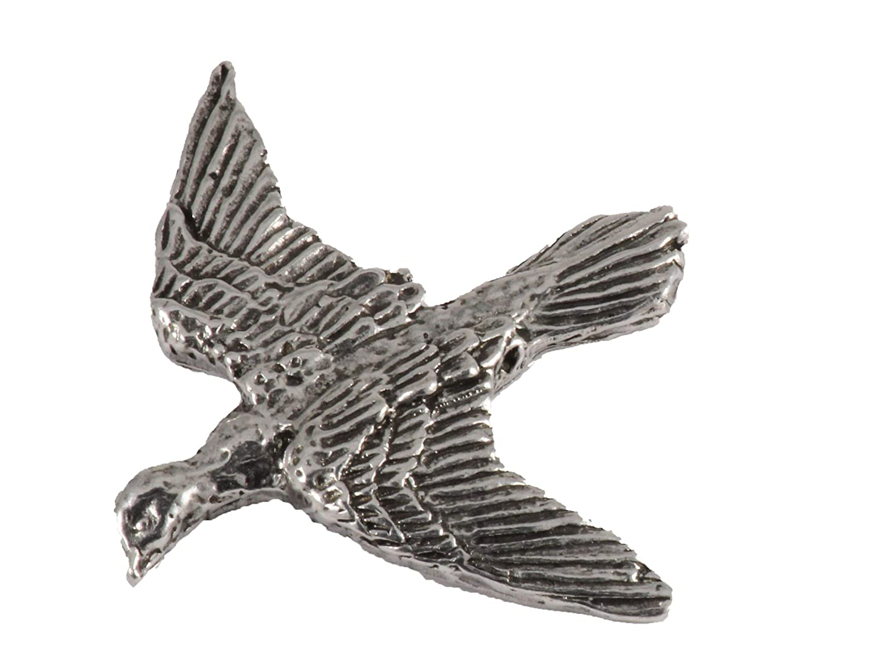 Jewelry Rock Pigeon City Flying Bird Pewter B106 Lapel Pin Brooch