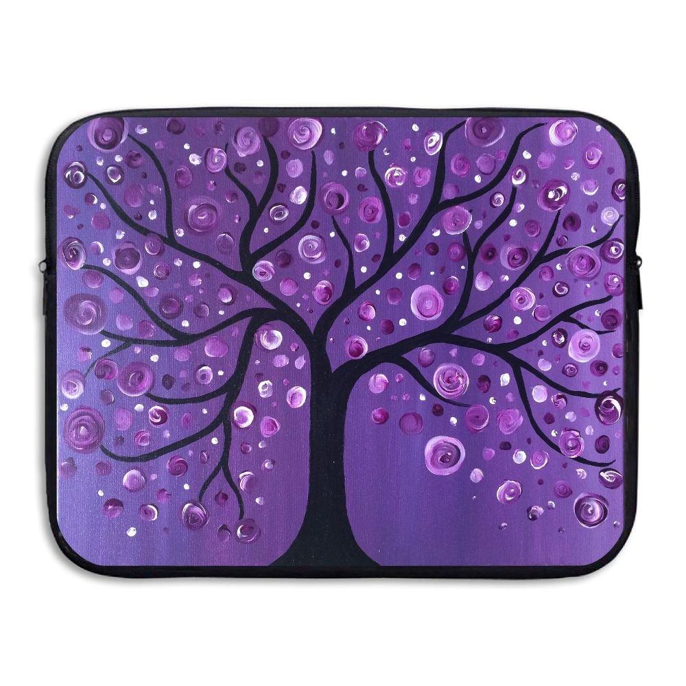 Ministoeb Purple Tree Love Art Laptop Storage Bag - Portable Waterproof Laptop Case Briefcase Sleeve Bags Cover