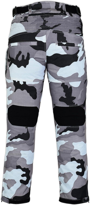 Bikers Gear Gris Camo Camouflage /étanche blind/é Moto Pantalon Thermique de 81,3/cm de Long