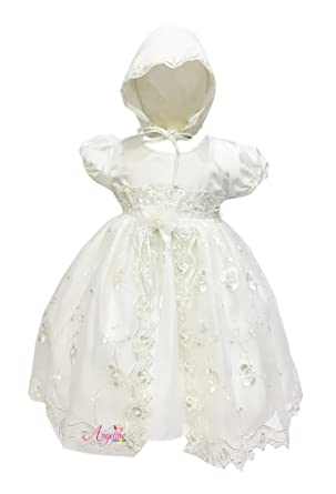 c17be8baccb Angeline Kids Baby Girls Christening Dress Baptism Dedication Ivory Gown  1799C 6M