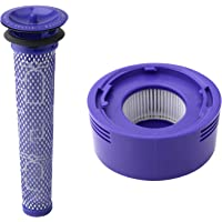 Pre Filter + HEPA Post-Filter kit for Dyson V7 V8 Animal and Absolute Cordless Vacuum Replacement Pre-Filter (DY…