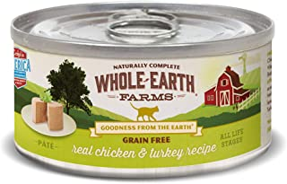 product image for Whole Earth Farms Grain Free Real Chicken & Turkey Recipe Wet Cat Food, 5 oz., Case of 24, 24 X 5 OZ
