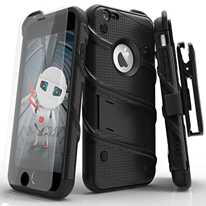 on sale e542f 8c13e iPhone 6s Case, Zizo [Bolt Series] with [iPhone 6s Screen Protector]  Kickstand [Military Grade Drop Tested] Holster Belt Clip - iPhone 6 / 6s