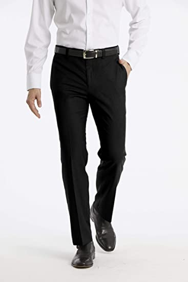 Calvin Klein Mens Modern Fit Performance Flat Front Dress Pant