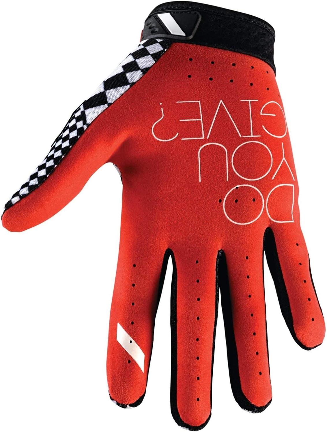 White//Blue//Medium 100/% Ridefit Mens Off-Road Motorcycle Gloves