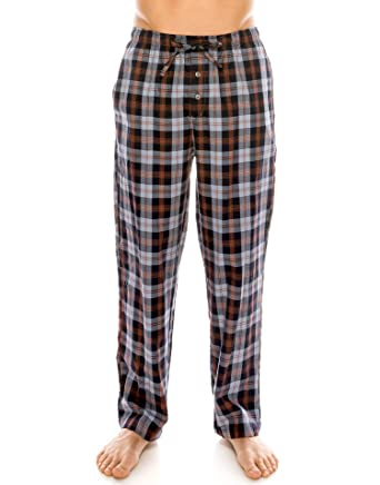 b9ded792c3b TINFL Men s Lounge Cotton Plaid Check Pajama Long Pants PM-01-NavyOrange S