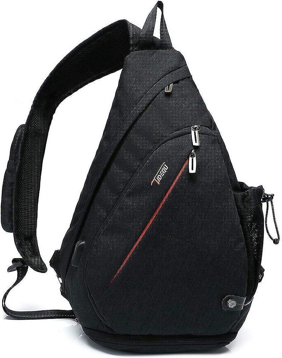 Tudequ Dry Wet Separation Sling Crossbody Chest Bag Backpack Casual Daypack for Men Women Teens