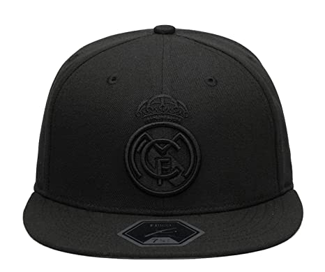 25645213f6546 Fi Collection Real Madrid Officially Licensed Blackout Fitted Hat (7 1 2)
