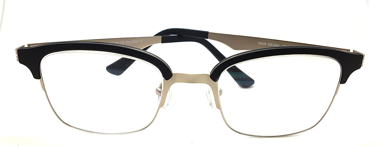 74d6795791 Amazon.com  Piovino New Soltax Prescription Eye Glasses Frame Metal and  Ultem 5608 0914M  Clothing