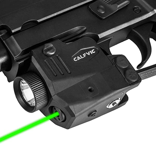 CALFVIC Pistol Light Laser Sight Gun Light Picatinny Weaver Rail with Magnetic Charging Quick Release Strobe Function Tactical 450 Lumens LED Laser Sights