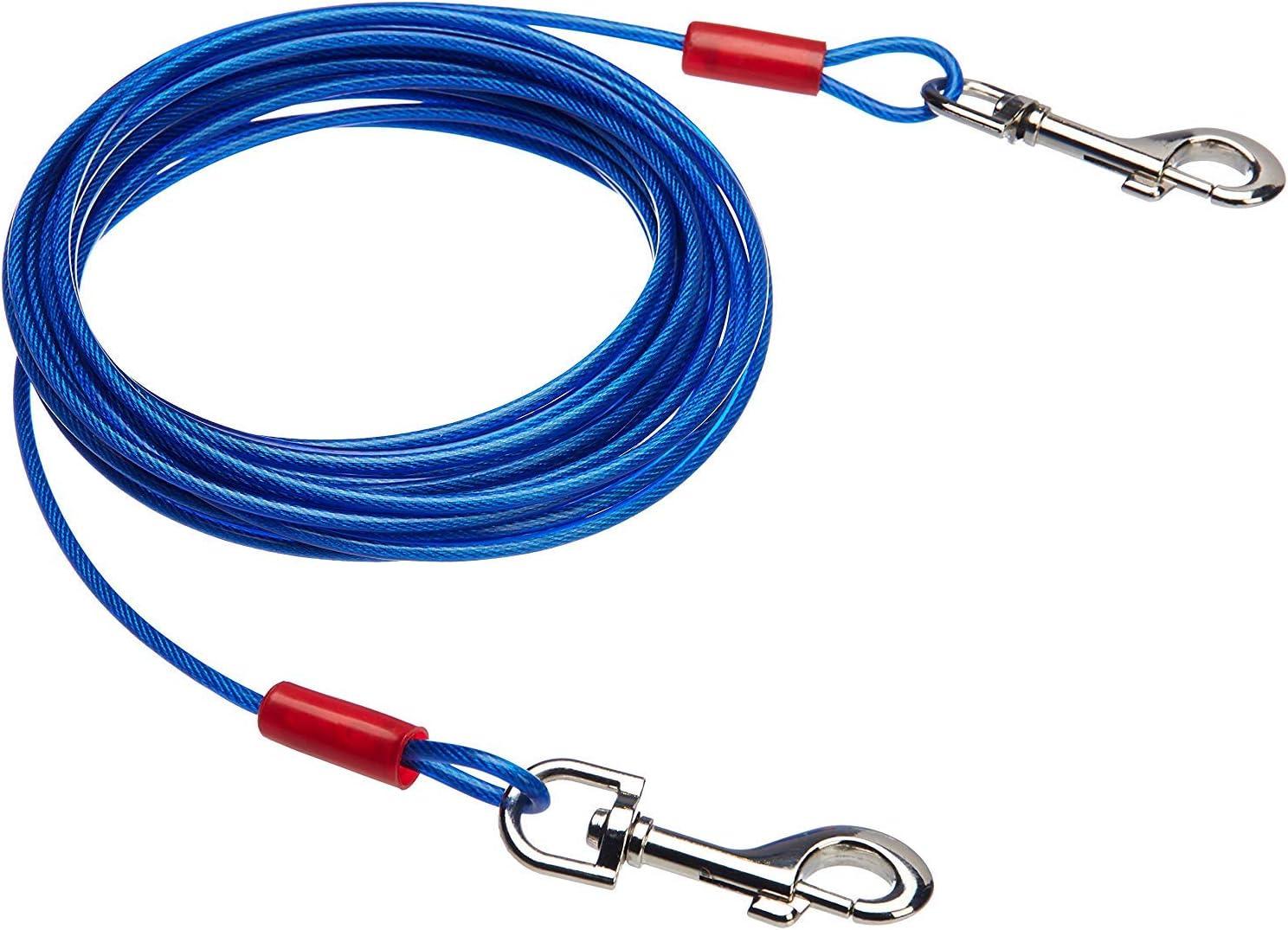 Amazon Basics - Cable para atar perros, hasta 27 kg, 7,62 m