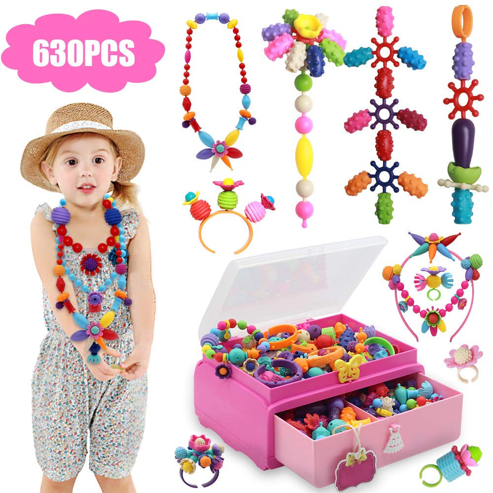 Tigerhu 630 PCS Pop Perlen, Snap Perlen Pop Beads für Kinder Mädchen ...