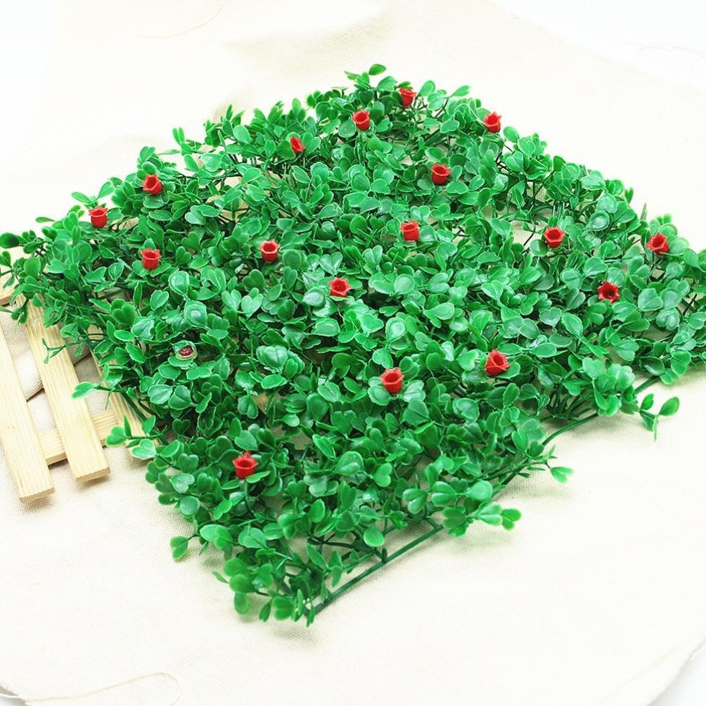 Hunpta acuario pecera paisaje con orquídea de arroz simulación césped (verde + rojo): Amazon.es: Productos para mascotas