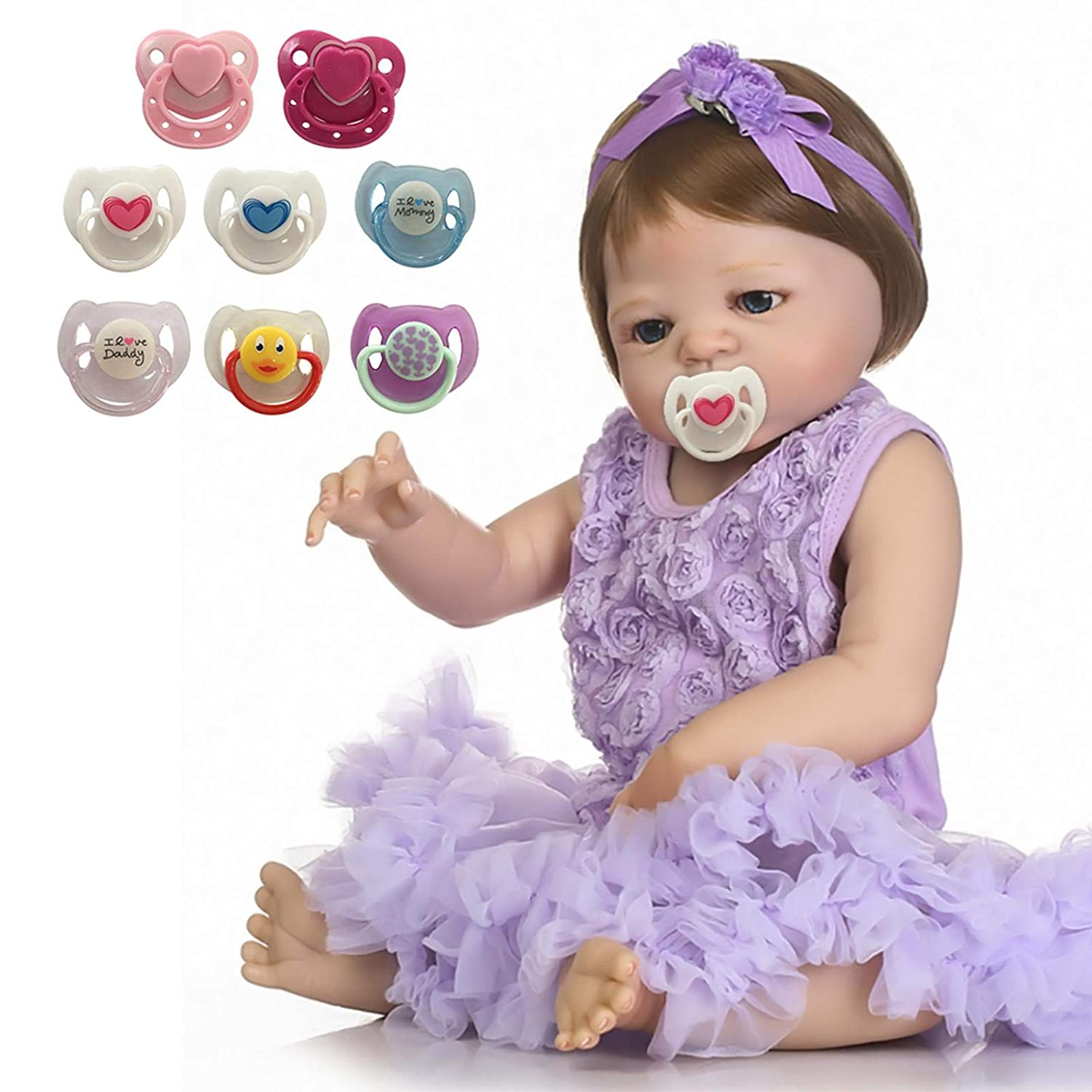 6PCS Magnetic Pacifier for Reborn Baby Doll Reborn Doll Kits Newborn Accessories