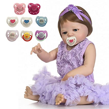 6PCS Magnetic Pacifier for Reborn Dolls Pacifier Dummy Reborn Doll Accessories