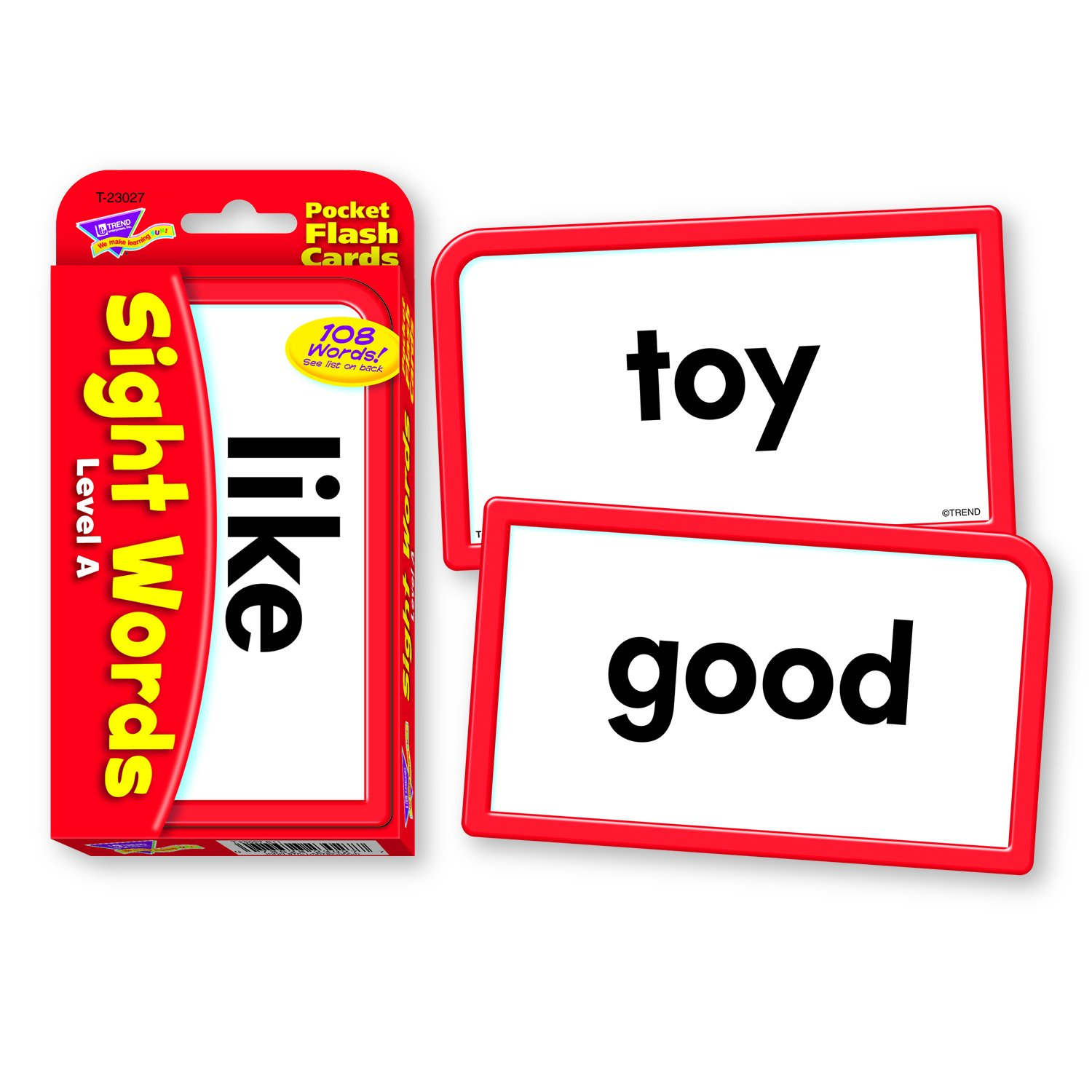 Worksheet Sight Word Flash Cards amazon com sight words level a pocket flash cards toys games