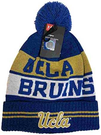 33d6dfe981ac6 UCLA Bruins Under Armour Powder Keg Blue Sideline Pom Pom Beanie Hat Cap   Amazon.co.uk  Sports   Outdoors
