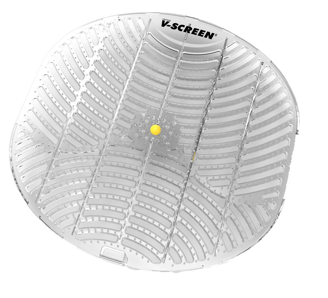 V-Screen V-SCREENYELLOW Urinal Screen (Pack of 12) Vectair Systems V-SCREEN-YELLOWVEC-12