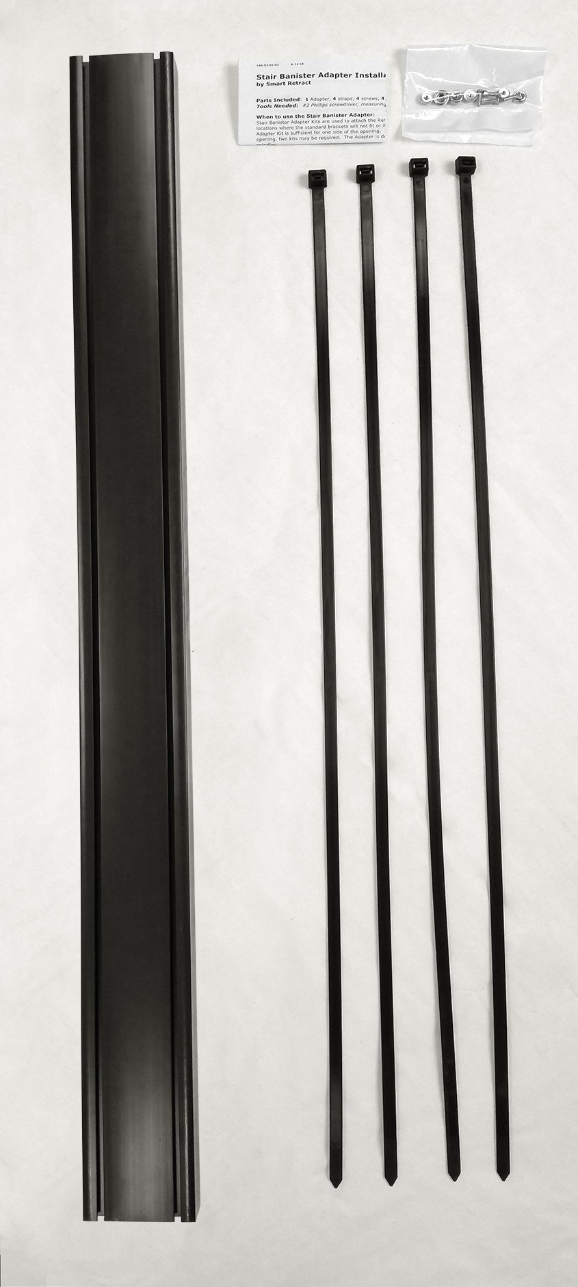 Retract-A-Gate Stair Banister Kit (36 inches tall, black)