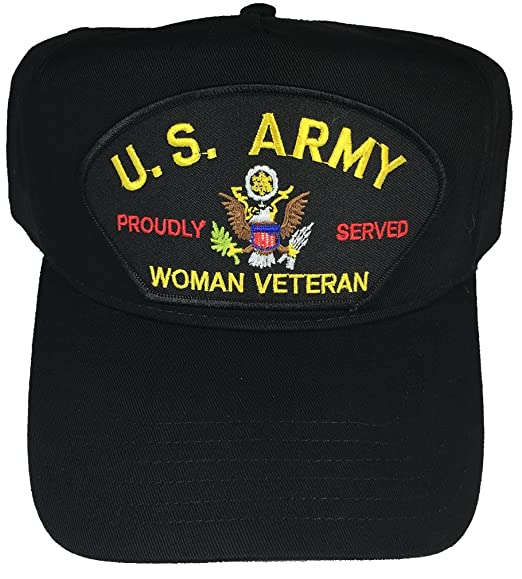 41ebdf8cbe7 U.S. ARMY WOMAN VETERAN PROUDLY SERVED W  LOGO HAT - BLACK - Veteran Owned  Business