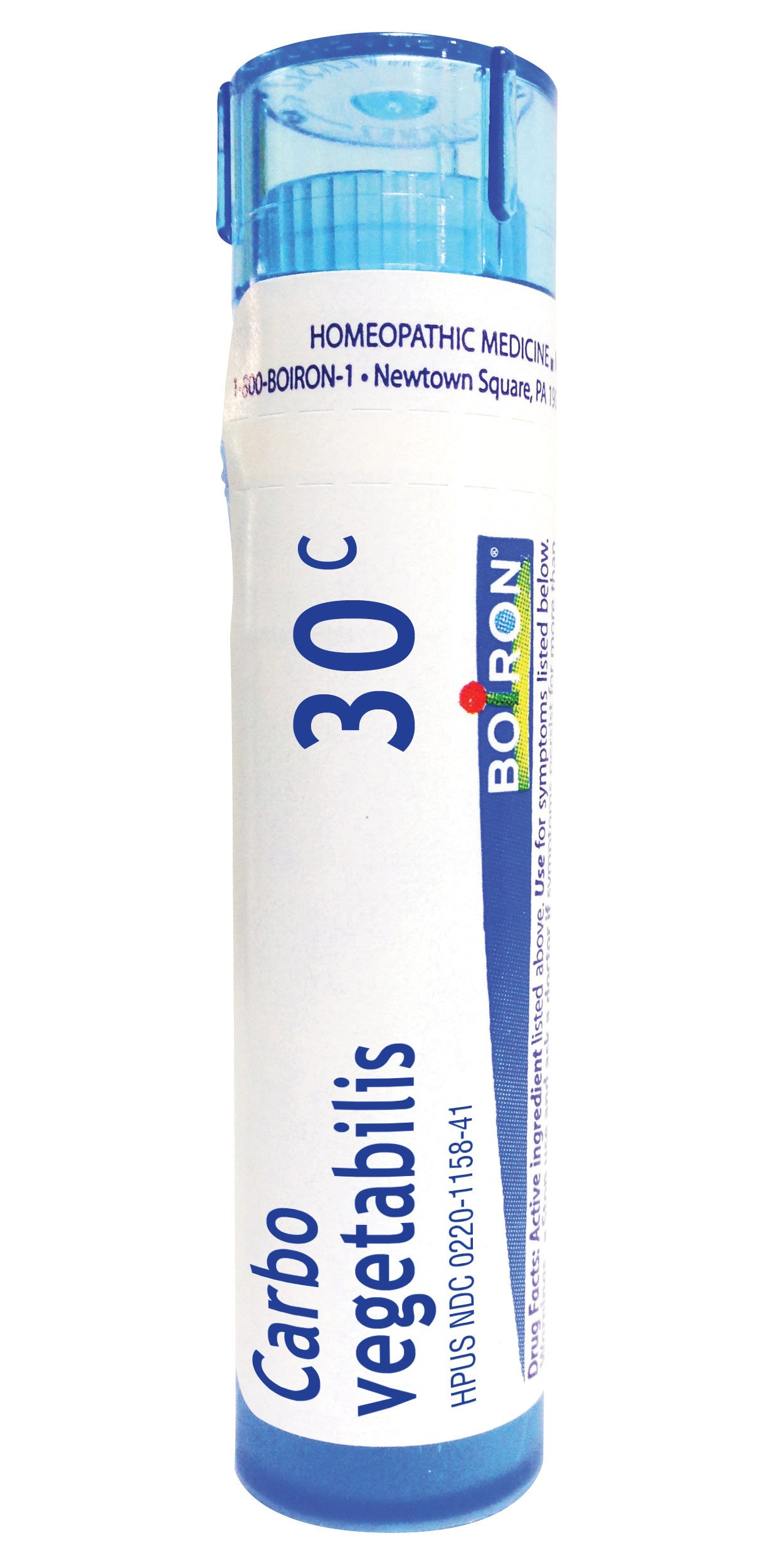 Boiron Homeopathic Medicine Carbo Vegetabilis, 30C Pellets, 80-Count Tubes (Pack of 5)